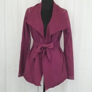 Lucky brand sz m purple cardigan